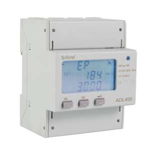 Three phase rail mounted energy meter